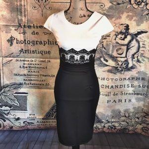 Dresses & Skirts - Adorable Black & White Dress (Small)